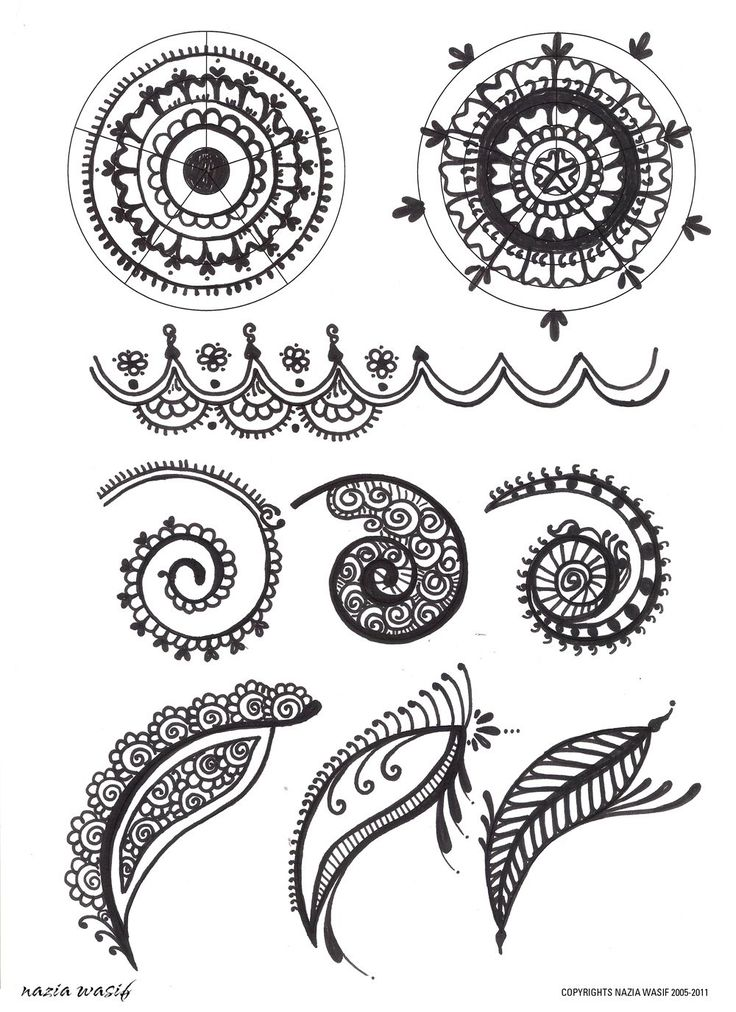 black and white henna - Google Search Mais
