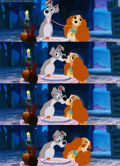 The famous Disney kiss