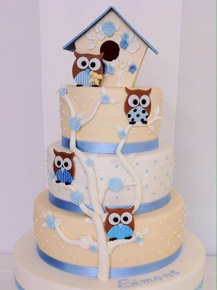 Owl cake for baby showers, birthdays and House-Warmings