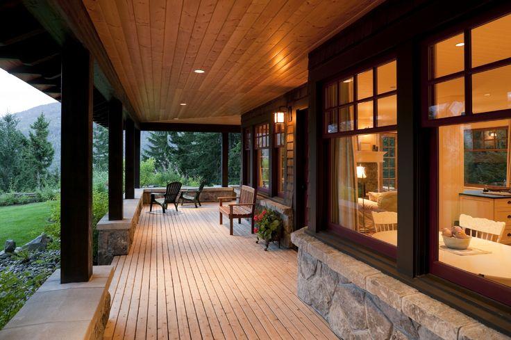 Porch Modern Villa Porch Cover Design Alongside Wooden