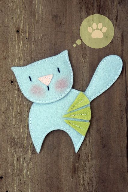 Silvery Kitten by made by agah, via Flickr