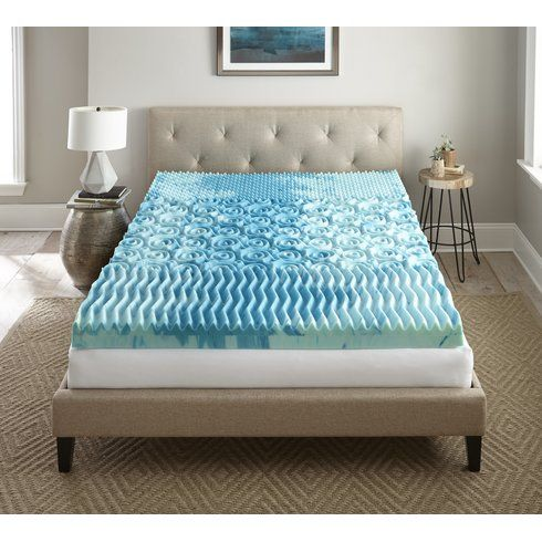 """Sleep Cool Gellux 4"""" Memory Foam Mattress Topper"""