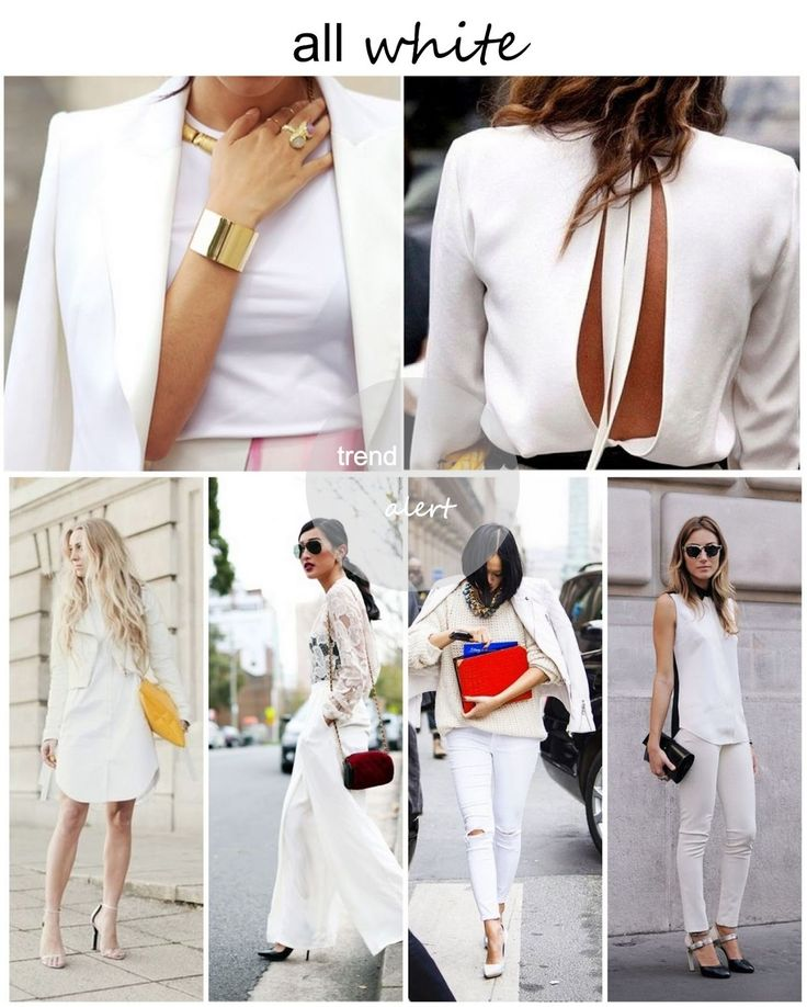 TREND REPORT - ALL WHITE
