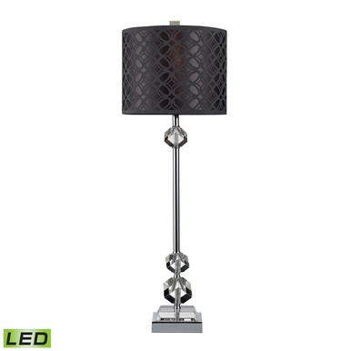 Dimond Lighting Chamberlain LED Table Lamp In Chrome And Clear Crystal With Laser Cut Shade