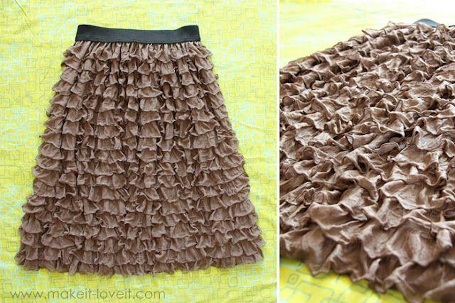 Fastest skirt ever-so cute!: Skirts, Pre Ruffled Fabric, Ruffly Skirt From, Skirt From Pre Ruffled, Sewing Ideas, Ruffle Skirt, Ruffles