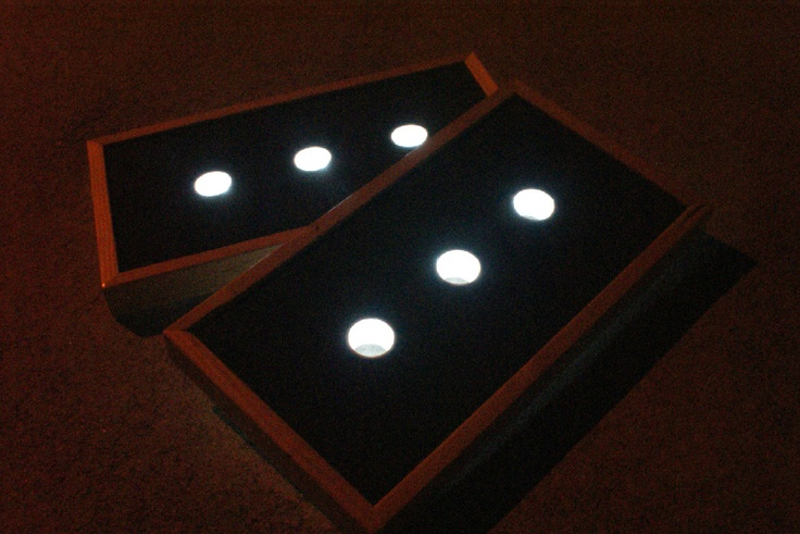 Washer Boards with lights in the holes.... No more callin' it quits at dusk!