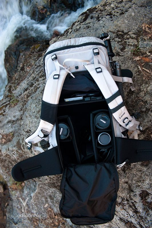 f-stop hiking+camera backpack (shown in the discontinued grey mist color).