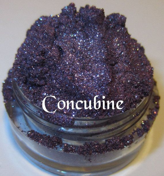 Concubine Plum Amethyst Royal Purple Blue Silver Glitter Mineral Eyeshadow Mica Pigment 5 Grams Lumikki Cosmetics