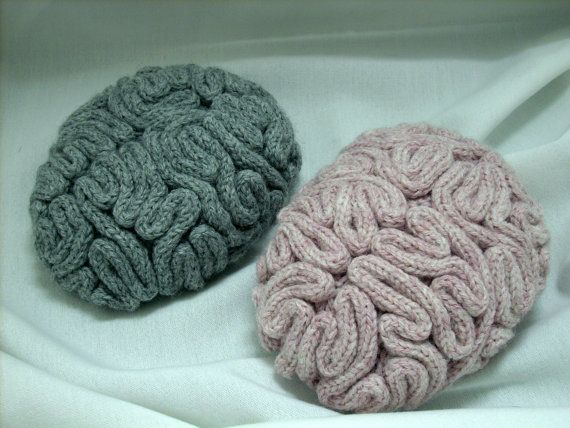 Made to Order Knit Child Size Brain Hat