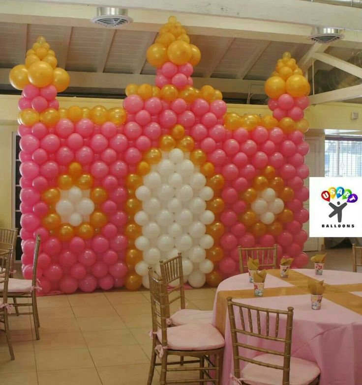 mur chteau castle decorationsballoon