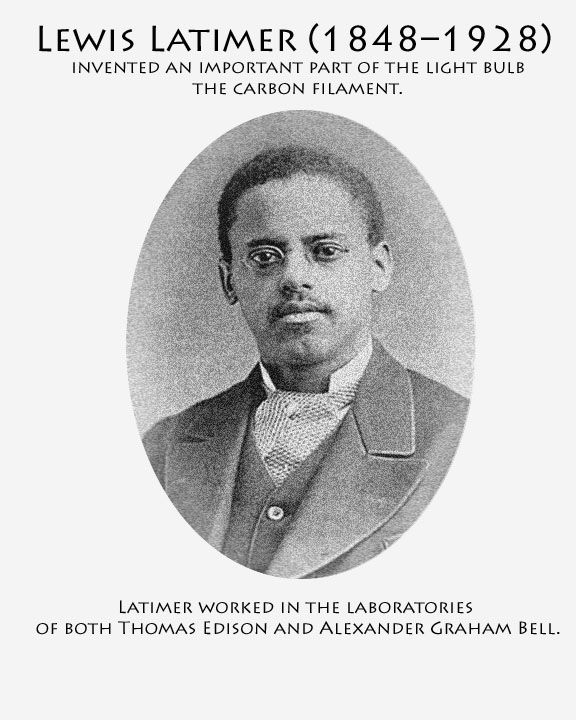 The 25+ best ideas about Lewis Howard Latimer on Pinterest ...:Famous Black History | Black History Month--Famous Inventors,Lighting