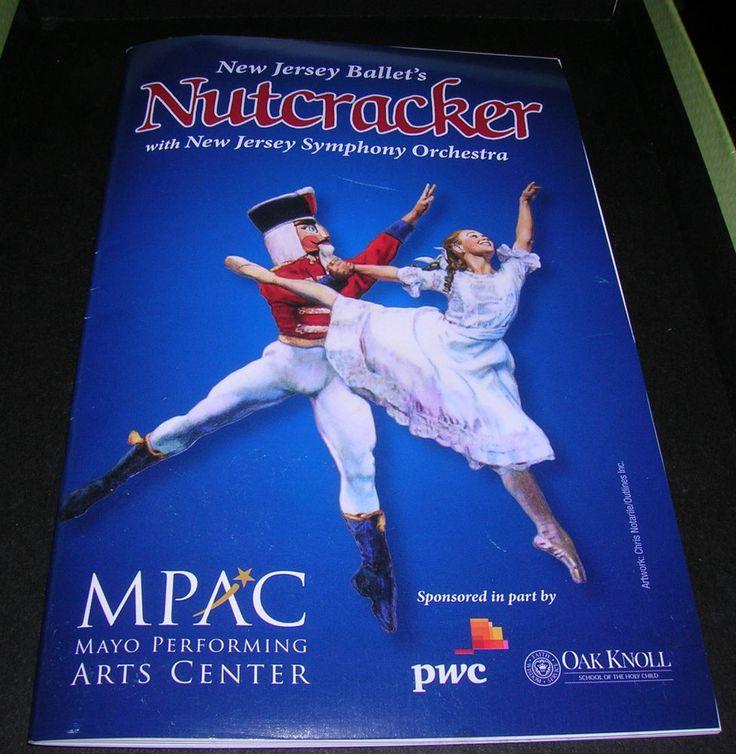 New Jersey Ballet's Nutcracker Suite Playbill with Ticket Stub