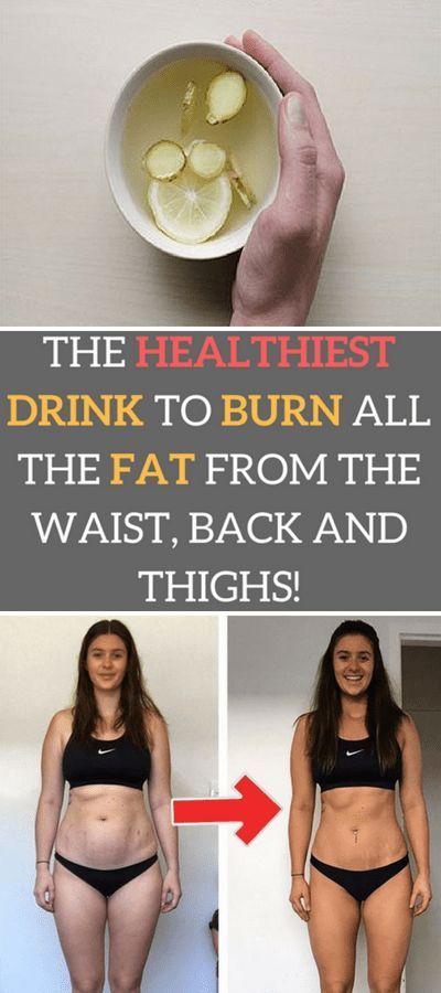 Das gesündeste Getränk, um das gesamte Fett von Taille, Rücken und Oberschenkeln zu verbrennen !!! #beaut