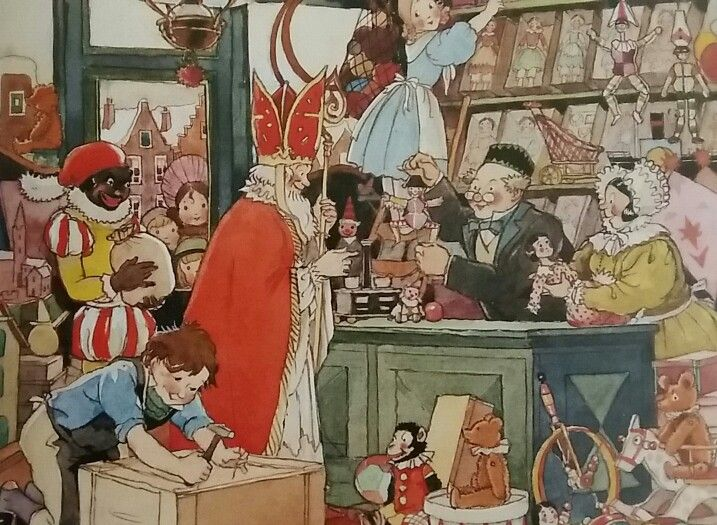 Sinterklaas en Piet doen inkopen...