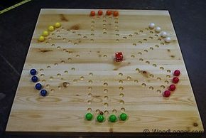 How to make an Aggravation Board Game. A do it yourself project for making a popular Marble Game Board out of wood.