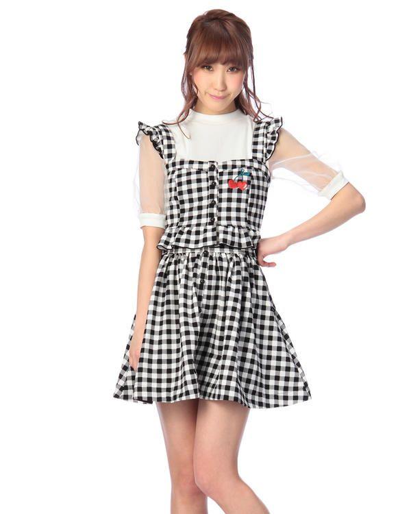 ☆菅野結以コラボITEM☆ギンガムセットアップ おすすめ   渋谷109で人気のガーリーファッション リズリサ公式通販