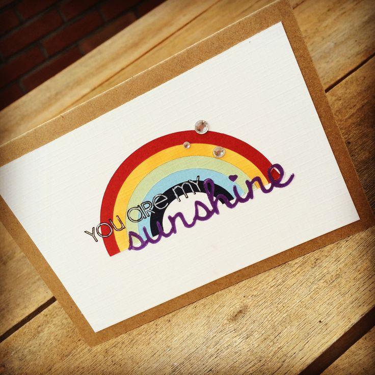 You are my sunshine #card #handmade  #silhouette