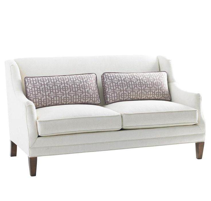 Sofa Pillows Mirage Tight Back Sofia Love Seat by Lexington Home Brands Hudsons Furniture Love Seat
