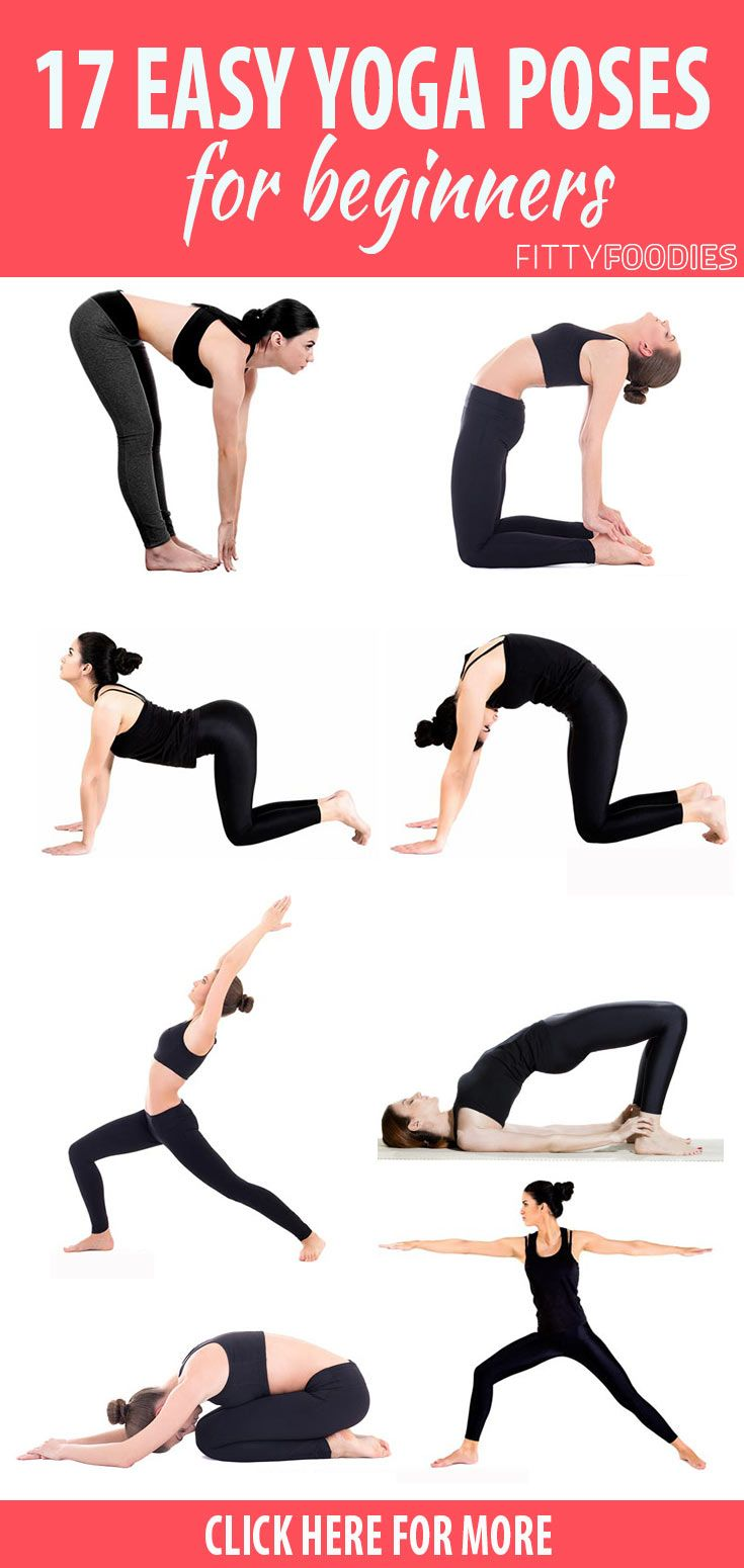 40 Easy Yoga Poses For Beginners - FittyFoodies  Easy yoga poses