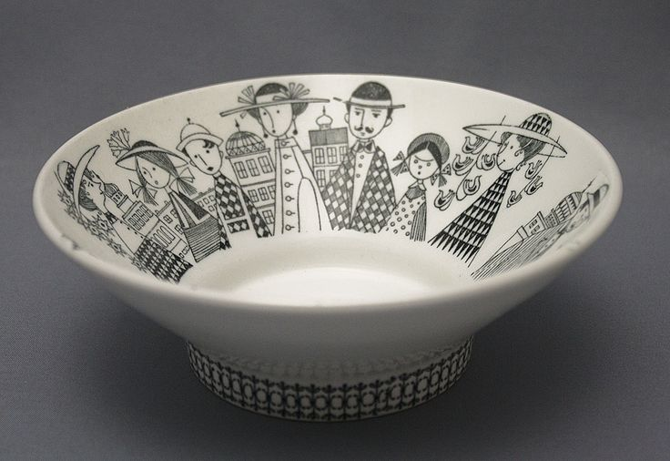 Bowl design Raija Uosikkinen. Arabia Finland, 1950's.