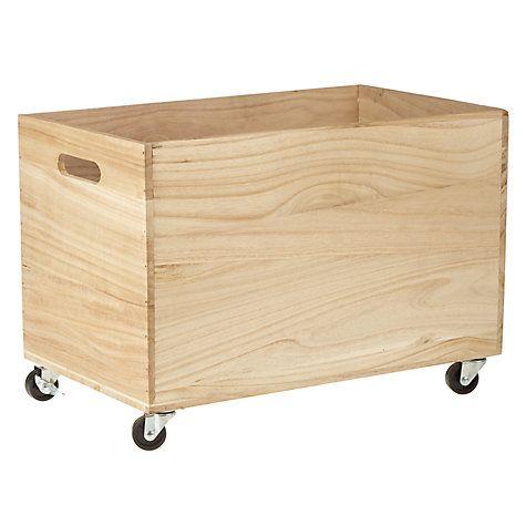 Buy House by John Lewis Wood Storage Box on Castors Online at johnlewis.com