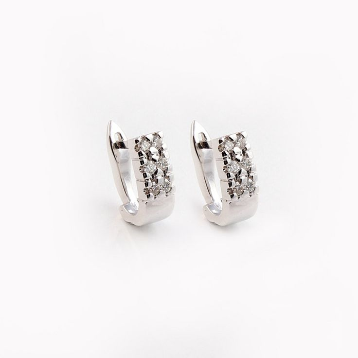14ct(585) White Gold Earring with 0.28ct W.SI Diamonds.By Golden Eye Jewellery Alanya Turkey