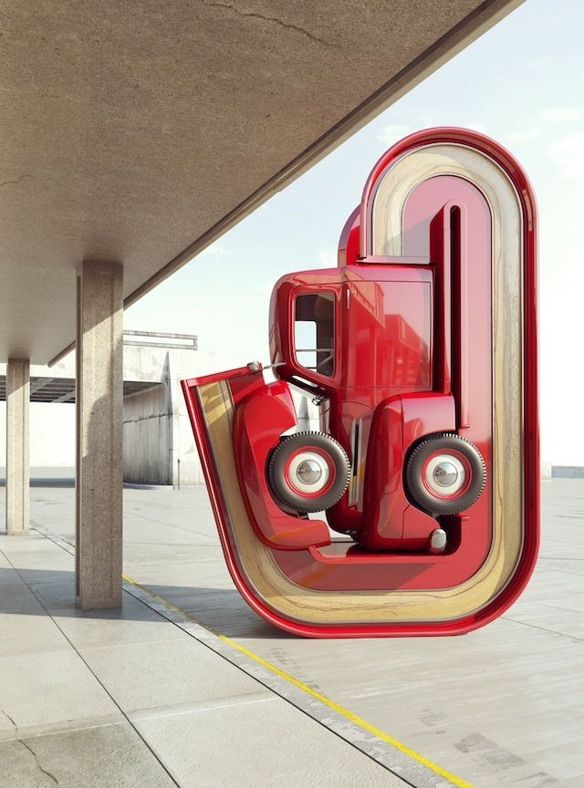 Surreale digitale Auto-Skulpturen im Americana-Style von Chris Labrooy | The Creators Project