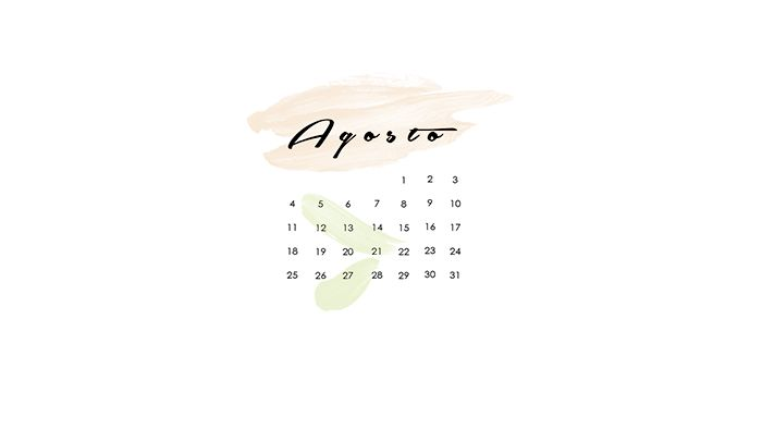 Wallpaper calendario Agosto 2014
