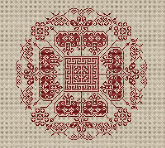 Instant Download,Free shipping,Cross stitch pattern, Cross-Stitch PDF, vintage chinese folk,chinese wedding  pattern design ,zxxc0314