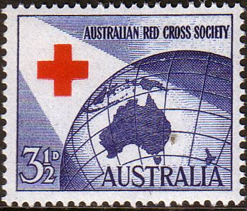 Australia 1954 SG 276 Red Cross Fine Mint Scott 271 Other Australian Stamps HERE