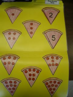 Pepperoni File Folder Game - Numbers - Free!   Mrs. Bremer's Kindergarten