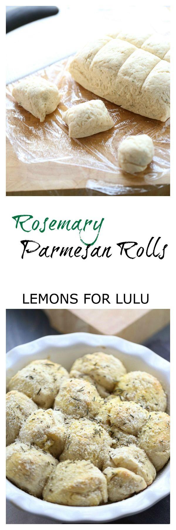 Rosemary Parmesan Potato Rolls ~ http://www.lemonsforlulu.com