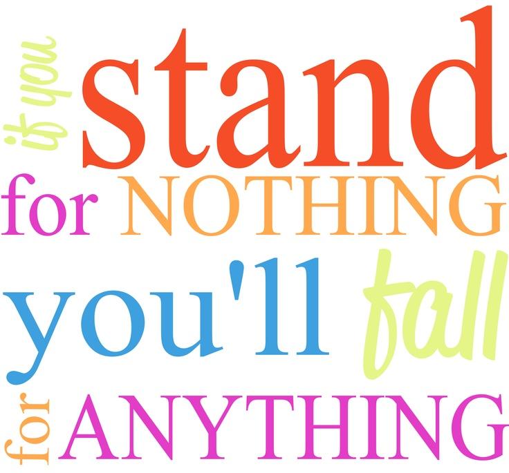 Stand for something! Calm artwork, Graphic design, Design
