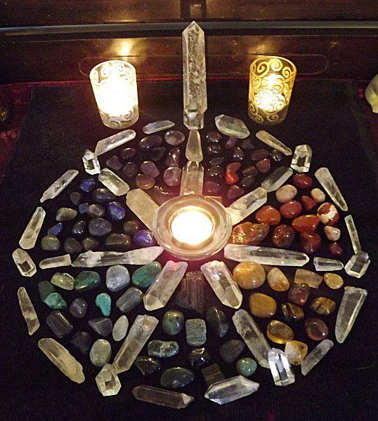 Lovely crystal altar
