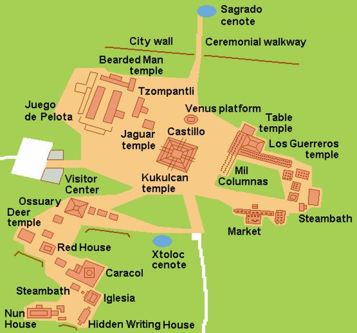 Map of Chichen Itza (Illustration) - Ancient History Encyclopedia