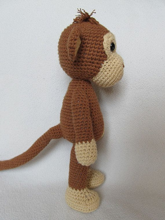 Sweet Monkey Julie - Amigurumi Crochet Pattern / PDF e-Book / Stuffed Animal ...