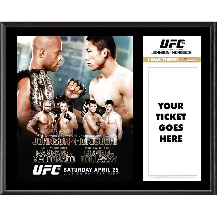 "Fanatics Authentic UFC 186 Demetrious Johnson vs. Kyoji Horiguchi Dueling ""I Was There"" 12"" x 15"" Sublimated Plaque - $31.99"
