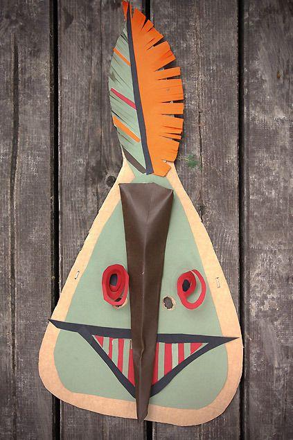 Originales caretas de cartulina para hacer en casa - Manualidades para Carnaval y Halloween - Manualidades para niños - Página 2 - Charhadas.com