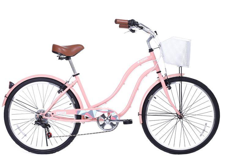 Cruiser Mujer/Damasco #nuevatemporadagama otro modelo de #gamabikes que espera su dueño #ciclista desde el 12 de octubre en nuestro sitio web gamabikes.com