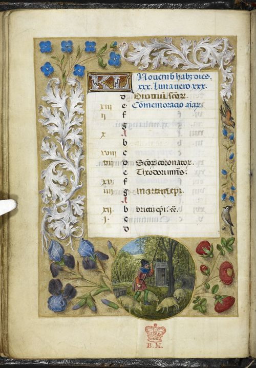 November 1 - the Huth Hours, Netherlands (Bruges or Ghent?), c. 1480 - British Library, Add MS 38126, f. 11v