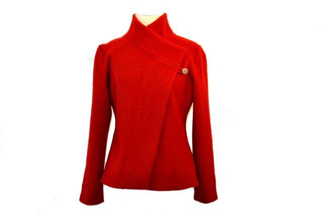 Origami Walk Jacke,Gr.XS-L Rot/Dunkelrot von Rosenrot Modedesign  auf DaWanda.com