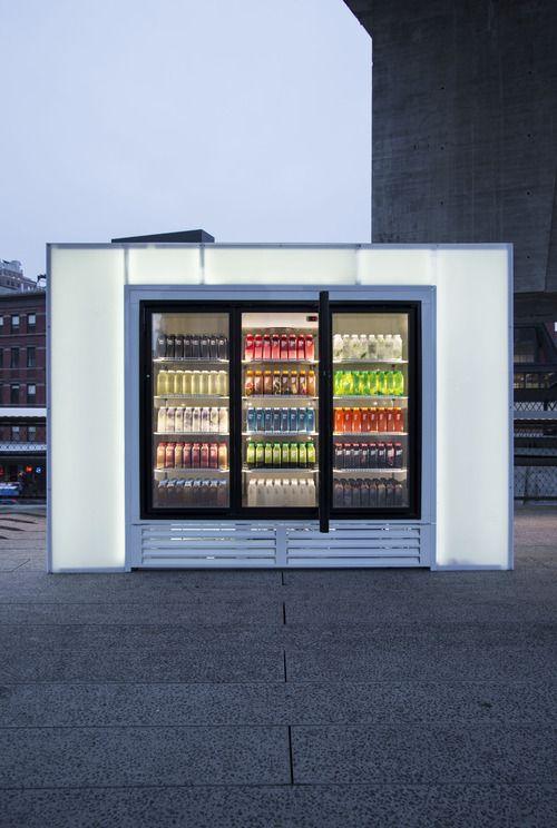 Josh Kline Skittles - water bottles representing contemporary lives