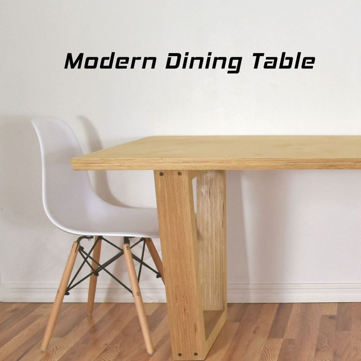 Making High End Furniture From Plywood Diy Modern Dining Table