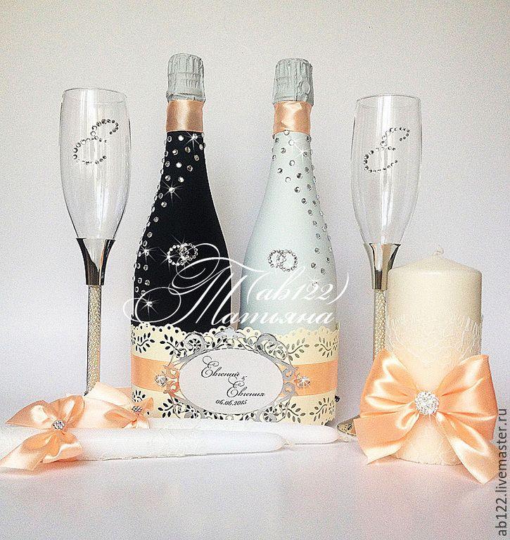 Купить Свадебный набор со стразами - разноцветный, свадебные аксессуары, свадебное шампанское