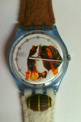"Retro Swatch Watch ""Barry"" Gent Collectable St. Bernard dog"