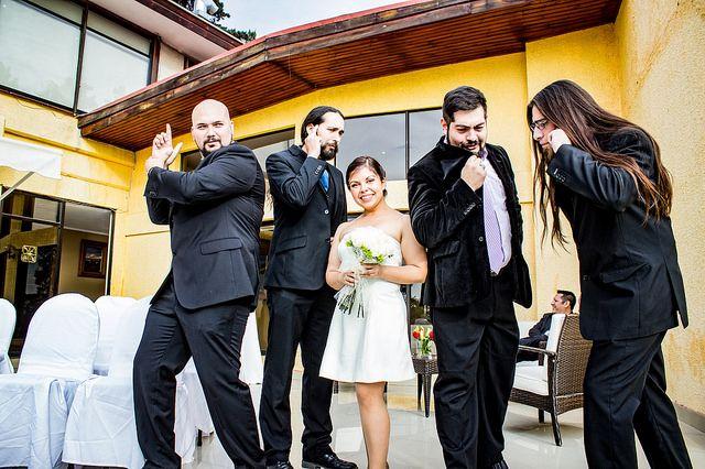 Bride and bestmen