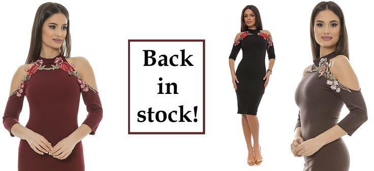 Unul dintre cele mai bine vândute modele din acest sezon este rochia R608! Din acest motiv, a reintrat în stoc pe: negru, grena și maro. Comandă acum! Stoc limitat!     Link produs: http://www.adromcollection.ro/rochii/504-rochie-angro-r608.html Whatsapp: 0786. 152. 657 sau 0786. 152. 652