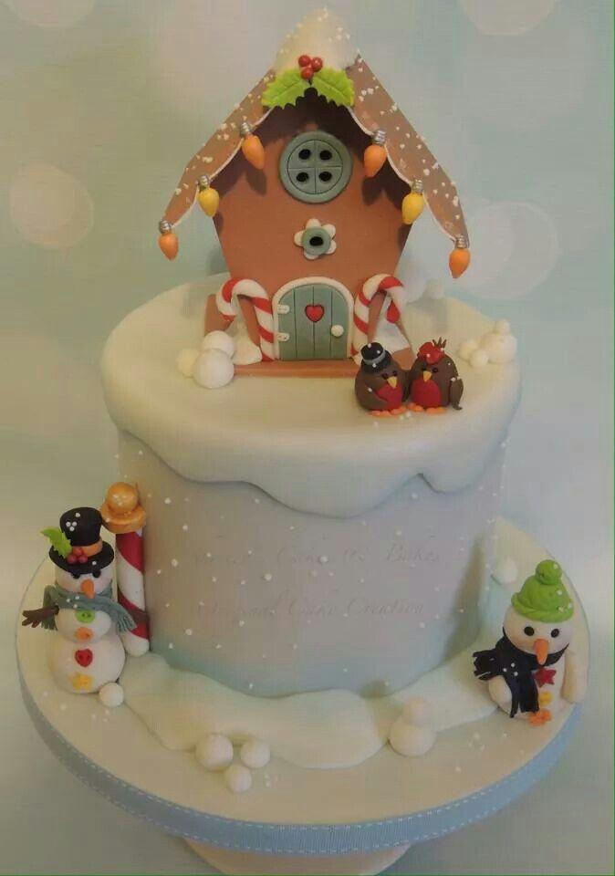 Robin house and snowmen
