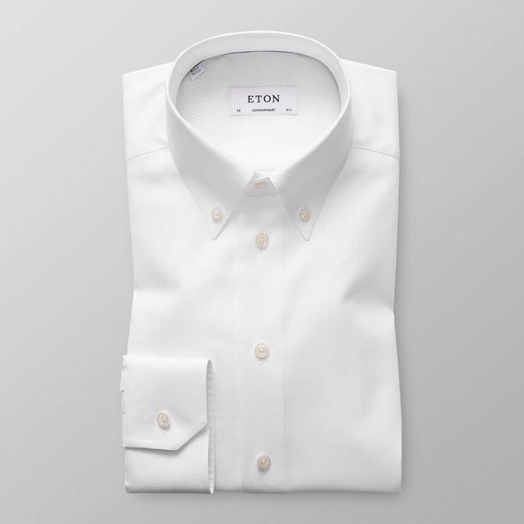 White Oxford Shirt - Contemporary fit | Eton Shirts US