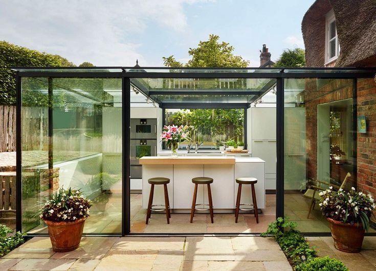 Attractive Plan Cuisine D Ete #2: Extension En Verre Par Kitchen Architecture